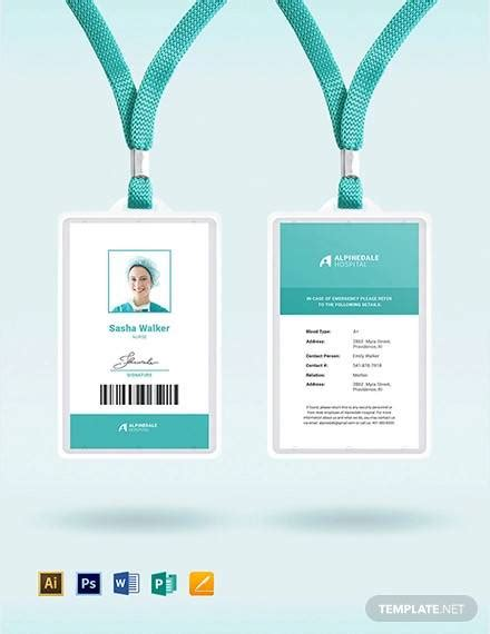 amazing id card templates  ai ms word pages