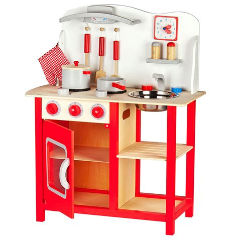 wooden kitchen accessories leomark wooden kitchen childrens play kitchen with 4944