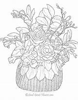 Coloring Pages Flowers Adults Flower Printable Sheets Advanced Spring sketch template