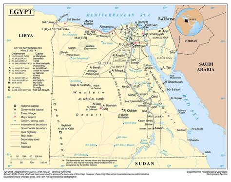 Detailed Map Of Egypt