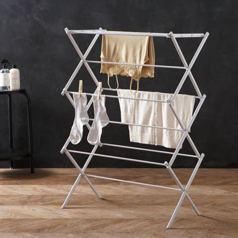 large folding drying rack crate  barrel