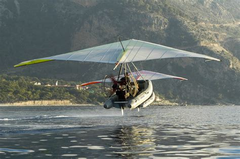 Hang Glider Boat by Multi Take Flying Boat Powered Hang
