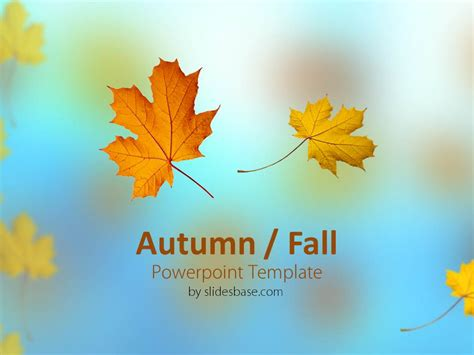 autumn fall powerpoint template slidesbase