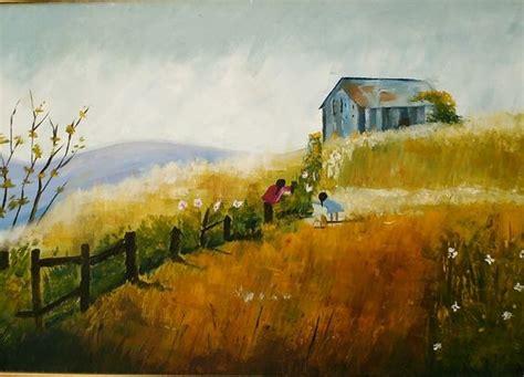 peinture ma maison dans la prairie
