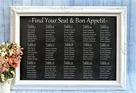 wedding reception seating chart reception seating charts 101