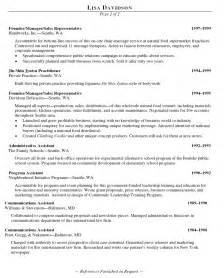 resume for coaching position coach resume exle