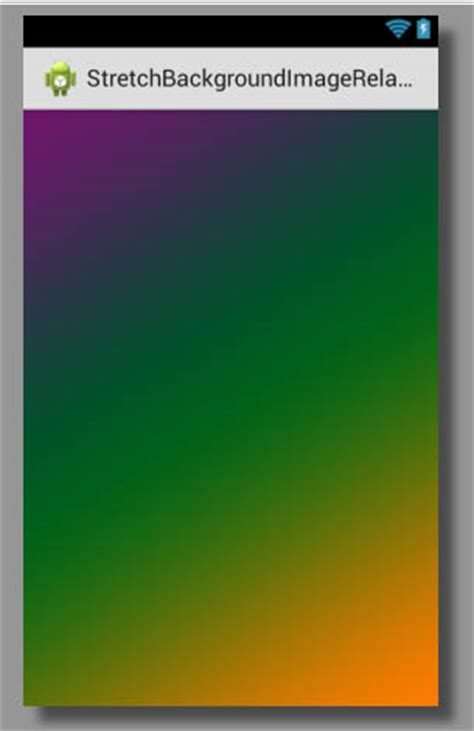 Stretch Background Image In Relativelayout Android Using