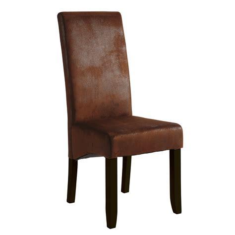 chaises en cuir salle a manger orange et taupe