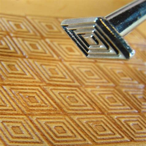 diamond geometric  images leather stamps