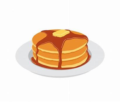 Pancake Pancakes Clipart Syrup Vector Butter Maple
