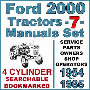 Ford 2000 Series 4 Cylinder Tractor Service Parts Owners