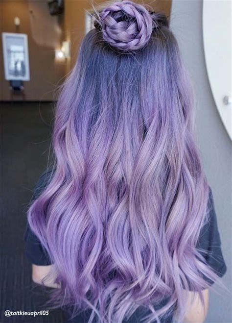 50 Lovely Purple And Lavender Hair Colors In Balayage And