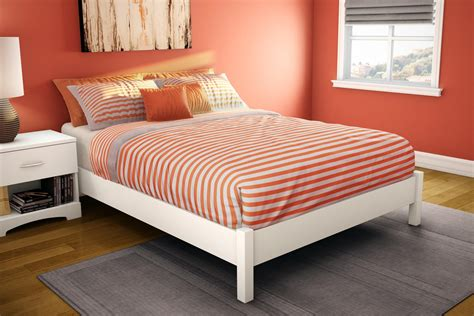 mattress for platform bed south shore 3050204 step one platform bed 54 quot in