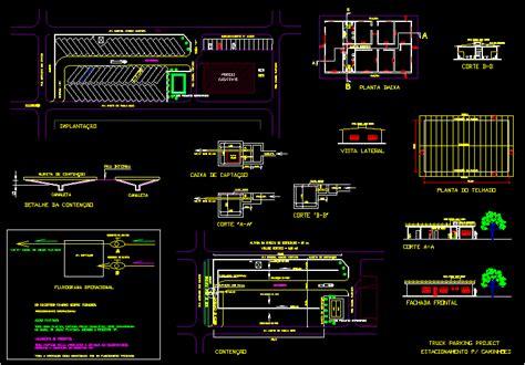 truck parking dwg detail  autocad designs cad