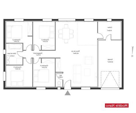 plan maison plain pied 4 chambres garage plan maison gratuit plain pied l 39 impression 3d