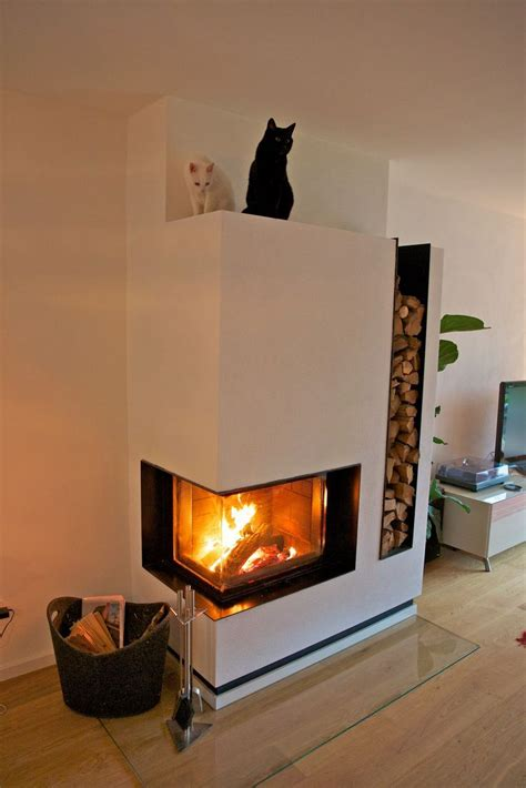 Kamin Mit Holz by 1000 Ideas About Contemporary Fireplaces On
