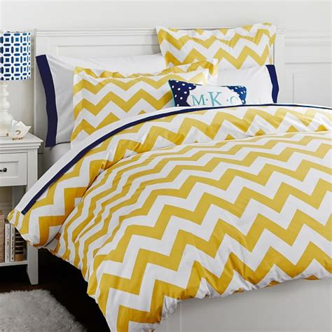 chevron duvet cover chevron duvet cover sham yellow pbteen
