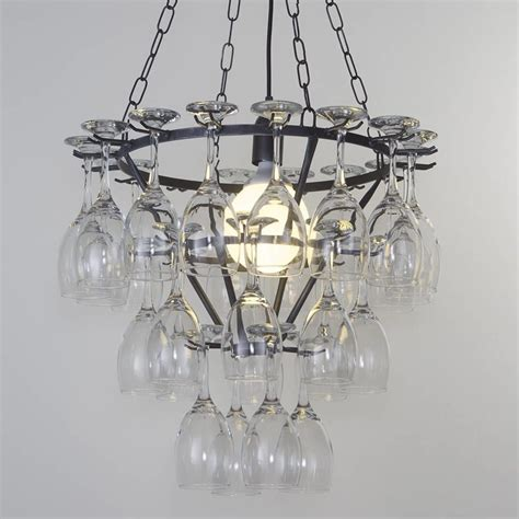 wine glass chandelier 3 tier black from litecraft