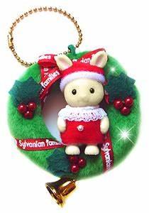 Sylvanian Families Baby Ivory Rabbit Christmas Wreath