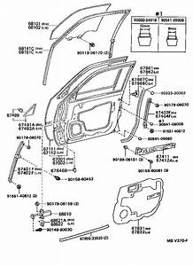 Toyota Camry Pocket  Front Door Trim  Left  Taupe  Body