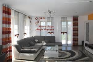 wohnideen wohnzimmer beige braun beige brauner schiebevorhang fürs wohnzimmer gardinen deko