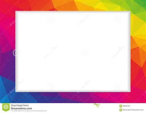 bas cadre polygonal abstrait dans des couleurs d arc en