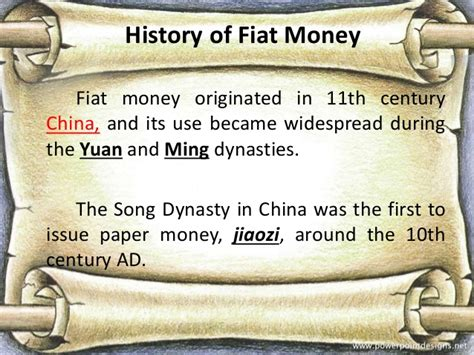 History Of Fiat Currency by Fiat Money
