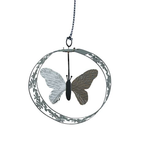 pluto fine metal butterfly hanging decoration cm