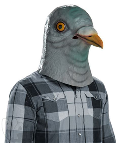 Creepy Animal Head Masks: Latex Horse, Squirrel, Pigeon