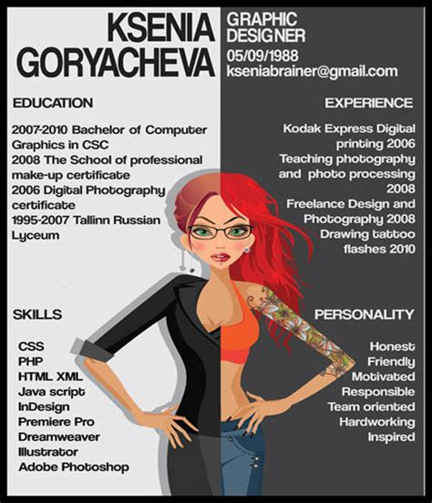 great resume designs that catch attention and got hired