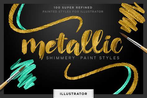 shimmery gold styles  illustrator illustrator add ons
