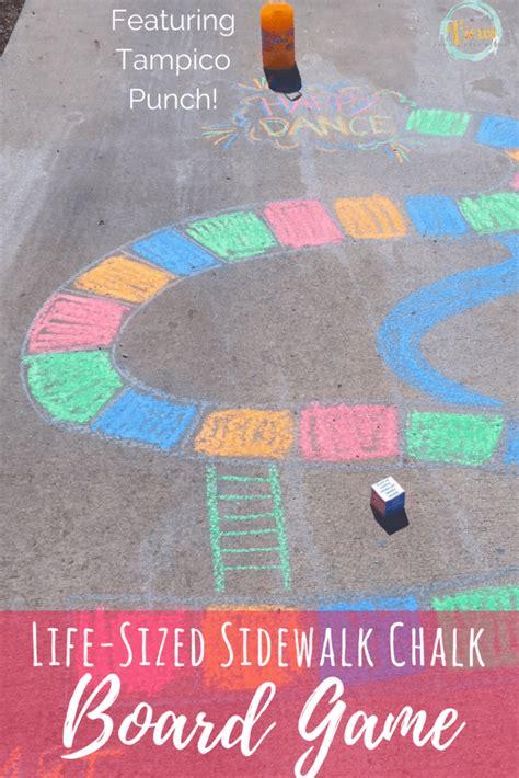 sidewalk chalk board game  families views   step