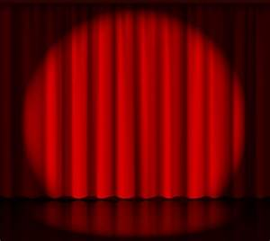 Black and white spotlight on stage psd designtube for Theatre curtains psd
