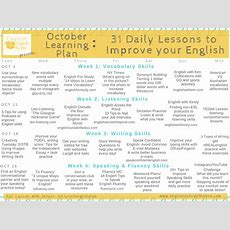 October Learning Plan 31 Daily English Lessons  Week 4 Speaking  English Outside The Box