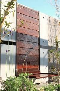 Hunt concrete steel water feature wall