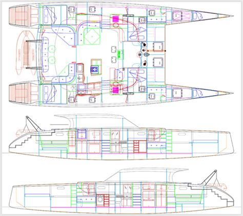 Catamaran Technical Drawing just launched mala conducta maine boats homes harbors