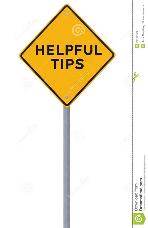 Helpful Tips stock image. Image of guide, white ...