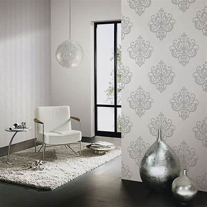 Grey Feature Glitter Opal Wallpapers Taupe Damask