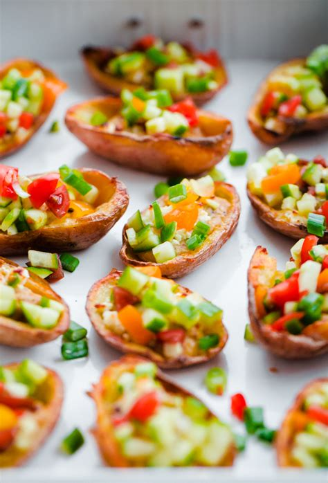 beautiful canapes recipes style potato skins with hummus a beautiful plate