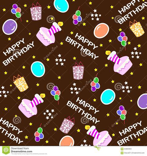 happy birthday seamless background pattern stock vector