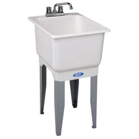 Home Depot Utility Sink by Mustee 18 In X 23 5 In Plastic Laundry Tub 12c The