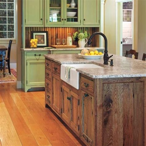 Traditional small island with efficient and functional design. 10 Rustic Kitchen Island Designs That Are Amazing - Housely