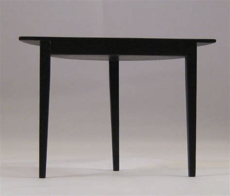table ronde demi lune black demi lune table