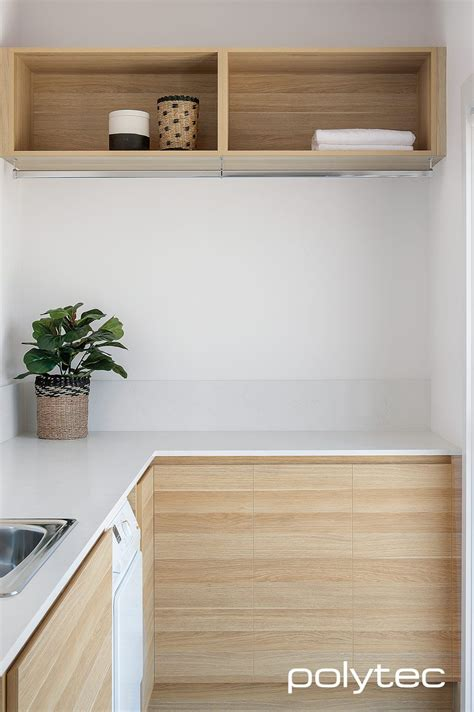 How To Clean Wood Cupboard Doors by Contemporary Style Laundry With Polytec Doors In