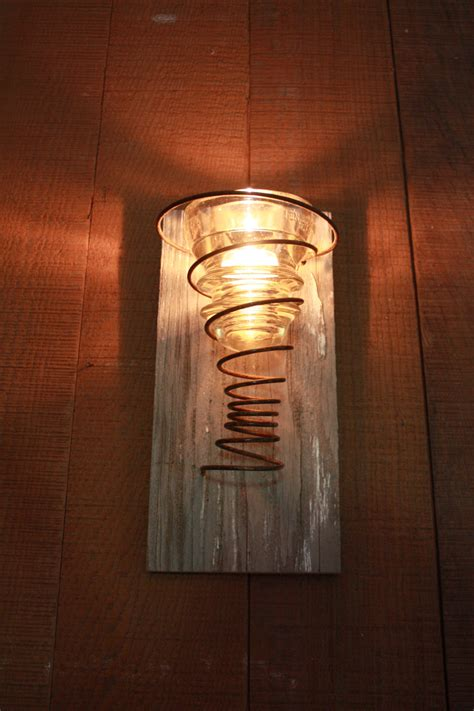 tea light candle wall sconce with and vintage