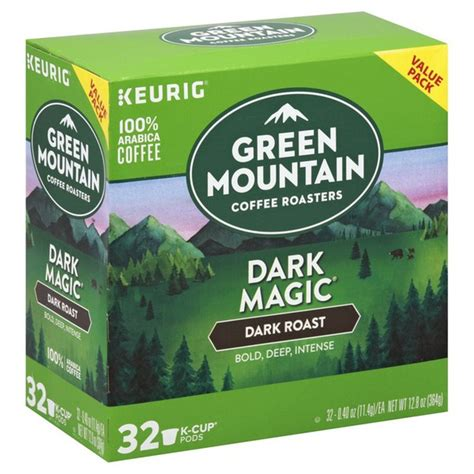 This blend makes every effort to let the individual tastes of the dark roasted coffees it contains shine through as a blend of bold flavors. Green Mountain Coffee Dark Magic Coffee Dark Roast (0.4 oz ...