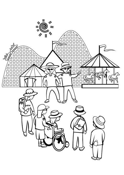 disegno da colorare parco divertimento disegni da
