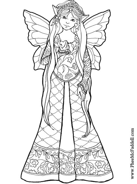 fairy bw coloring page  bestofcoloringcom