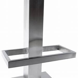 Tabouret De Bar Inox : tabouret de bar design oise en simili cuir et acier bross inoxydable noir ~ Teatrodelosmanantiales.com Idées de Décoration