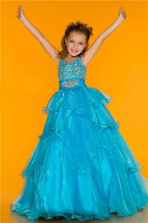 ball gown halter long turquoise ruffle beading